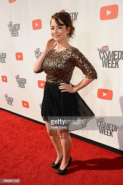 Actress Milana Vayntrub attends The Big Live Comedy Show presented by YouTube Comedy Week held at Culver Studios on May 19 2013 in Culver City...