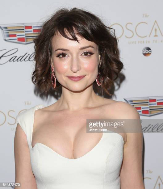 Actress Milana Vayntrub attends the Cadillac Oscar Week Celebration at Chateau Marmont on February 23 2017 in Los Angeles California