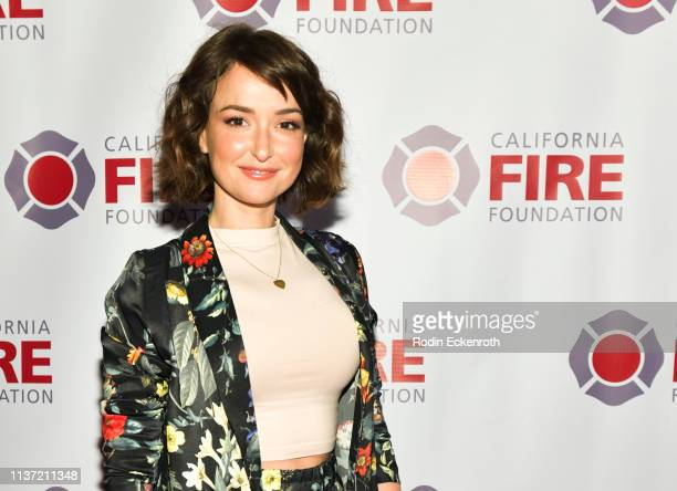 Actress Milana Vayntrub attends the California Fire Foundation 6th Annual Gala Celebrating Uncommon Courage at Avalon Hollywood on March 20 2019 in...