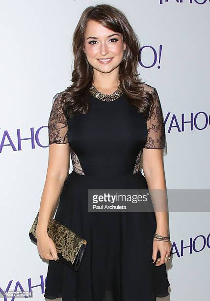 """Actress Milana Vayntrub attends the launch party for Paul Feig's new show """"Other Space"""" at The London on April 14, 2015 in West Hollywood, California."""