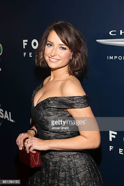 Actress Milana Vayntrub attends the Universal NBC Focus Features E Entertainment Golden Globes after party sponsored by Chrysler on January 8 2017 in...