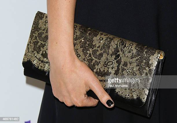 """Actress Milana Vayntrub ,Handbag Detail, attends the launch party for Paul Feig's new show """"Other Space"""" at The London on April 14, 2015 in West..."""