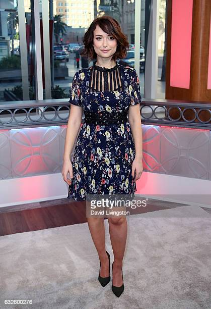 Actress Milana Vayntrub visits Hollywood Today Live at W Hollywood on January 24 2017 in Hollywood California