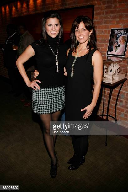 Actress Milena Govich and Designer Donna Distefano attend the Gotham Magazine KickOff for the First Annual NYC Food Wine Festival at Fiamma on...