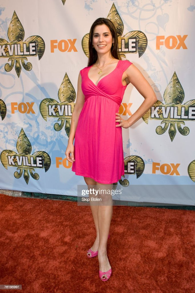 Actress Milena Govich arrives at the Fox Premiere of 'K-Ville' at