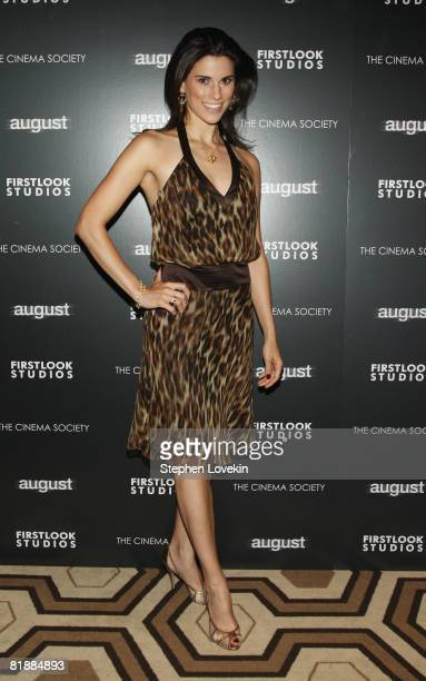 Actress Milena Govich attends a screening of August at the Tribeca Grand Screening Room on July 9 2008 in New York City