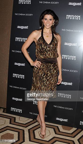 Actress Milena Govich attends a screening of August hosted by The Cinema Society and First Look Studios at the Tribeca Grand Screening Room on July 9...