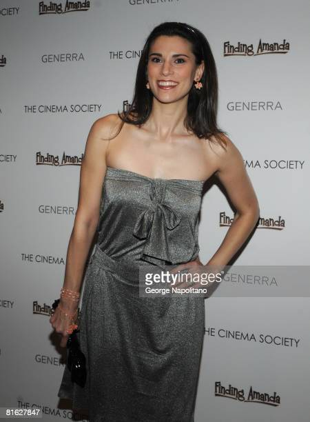 Actress Milena Govich attends a screening of Finding Amanda hosted by The Cinema Society and Generra at the Tribeca Grand Screening Room on June 18...