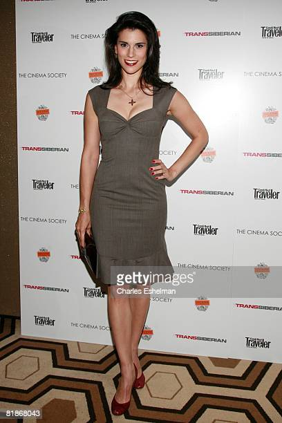 Actress Milena Govich attends a screening of Transsiberian hosted by The Cinema Society and Conde Nast Traveler at the Tribeca Grand Screening Room...