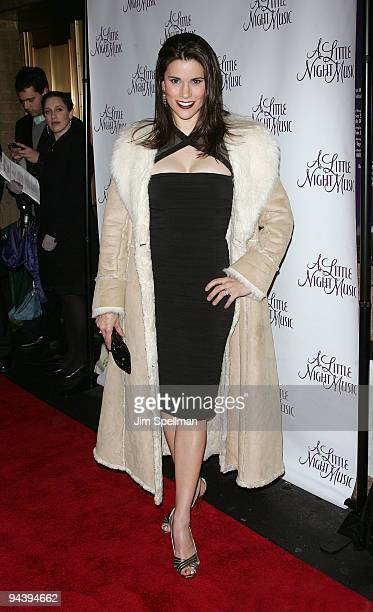Actress Milena Govich attends the A Little Night Music Broadway opening night at the Walter Kerr Theatre on December 13 2009 in New York City