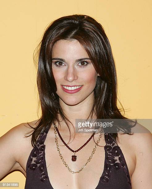 Actress Milena Govich attends the after party for the opening night of Superior Donuts on Broadway at the Redeye Grill on October 1 2009 in New York...
