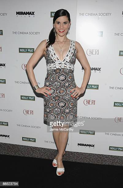 Actress Milena Govich attends the Cinema Society Noilly Prat screening Of Cheri at the Directors Guild of America Theater on June 16 2009 in New York...
