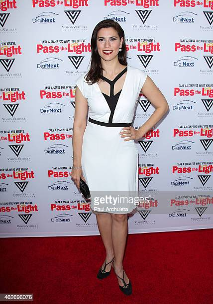 Actress Milena Govich attends the premiere of 'Pass The Light' at ArcLight Cinemas on February 2 2015 in Hollywood California