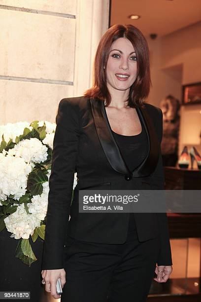 Actress Milena Miconi attends Moreschi Flagship Store Opening at Frattina street on November 26 2009 in Rome Italy