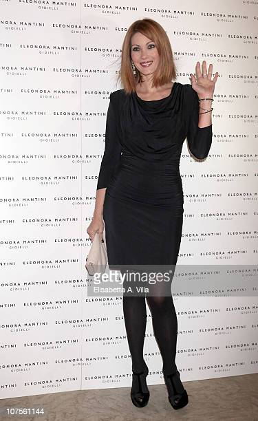 Actress Milena Miconi attends the Eleonora Mantini Jewellery Collection Launch at De Russie Hotel on December 13 2010 in Rome Italy