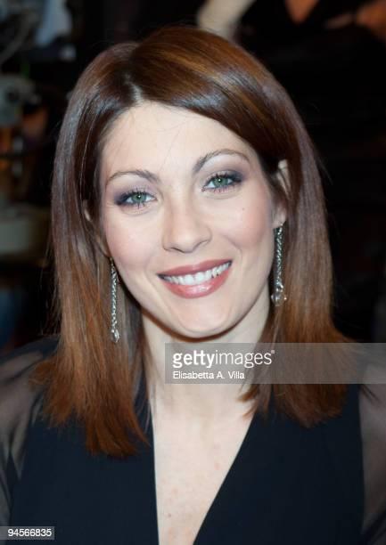 Actress Milena Miconi attends the Italian TV program '2009 Horoscope' by Paolo Fox at RAI studios on December 16 2009 in Rome Italy