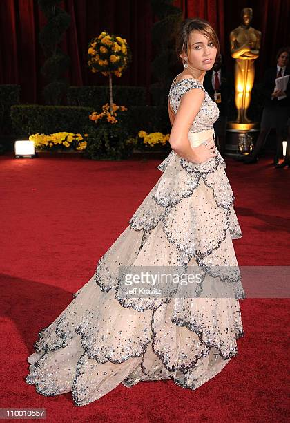 Actress Miley Cyrus arrives at the 81st Annual Academy Awards held at The Kodak Theatre on February 22 2009 in Hollywood California