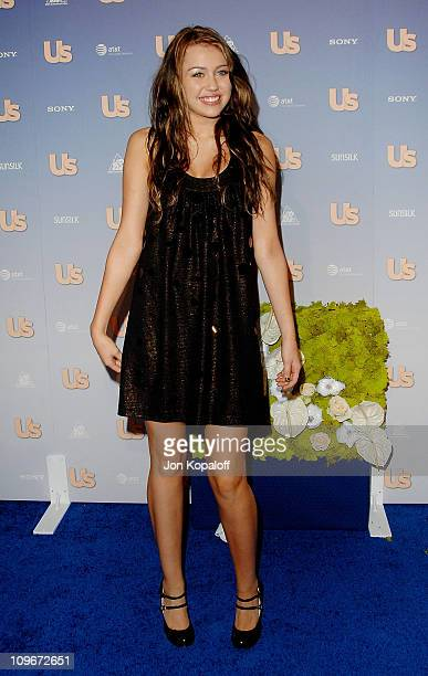 Actress Miley Cyrus arrives at the 'Us Weekly's Hot Hollywood 2007 Arrivals' at Opera on September 26 2007 in Hollywood California