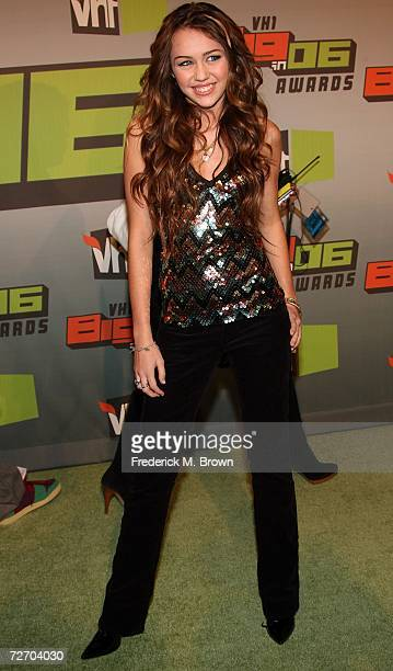 Actress Miley Cyrus arrives to the VH1 Big in '06 Awards held at Sony Studios on December 2 2006 in Culver City California