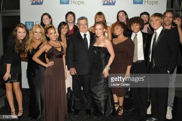 Actress Miley Cyrus singer Sabrina Bryan singer Adrienne Bailon singer Kiely Williams Disney Music Group's Bob Cavallo singer/actress Hilary Duff...