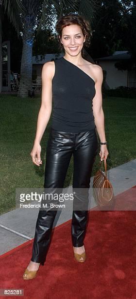 Actress Mili Avital arrives at the NBC Summer Press Tour AllStar Party July 20 2001 in Pasadena CA