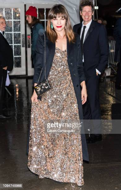 Actress Milla Jovovich and film director Paul W S Anderson are seen arriving to the amfAR New York Gala 2019 at Cipriani Wall Street on February 6...