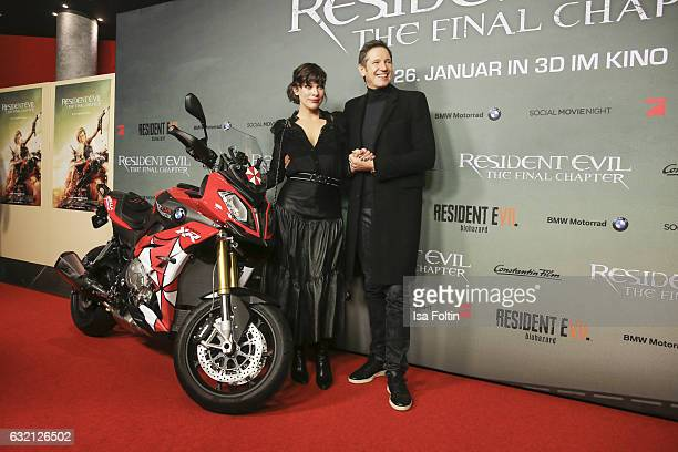 US actress Milla Jovovich and her husband producer Paul W S Anderson attend the Social Movie Night At 'Resident Evil The Final Chapter' premiere at...