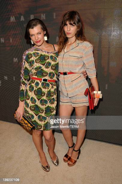 Actress Milla Jovovich and Lou Doillon attend the Marni at H&M Collection Launch at Lloyd Wright's Sowden House on February 17, 2012 in Los Angeles,...