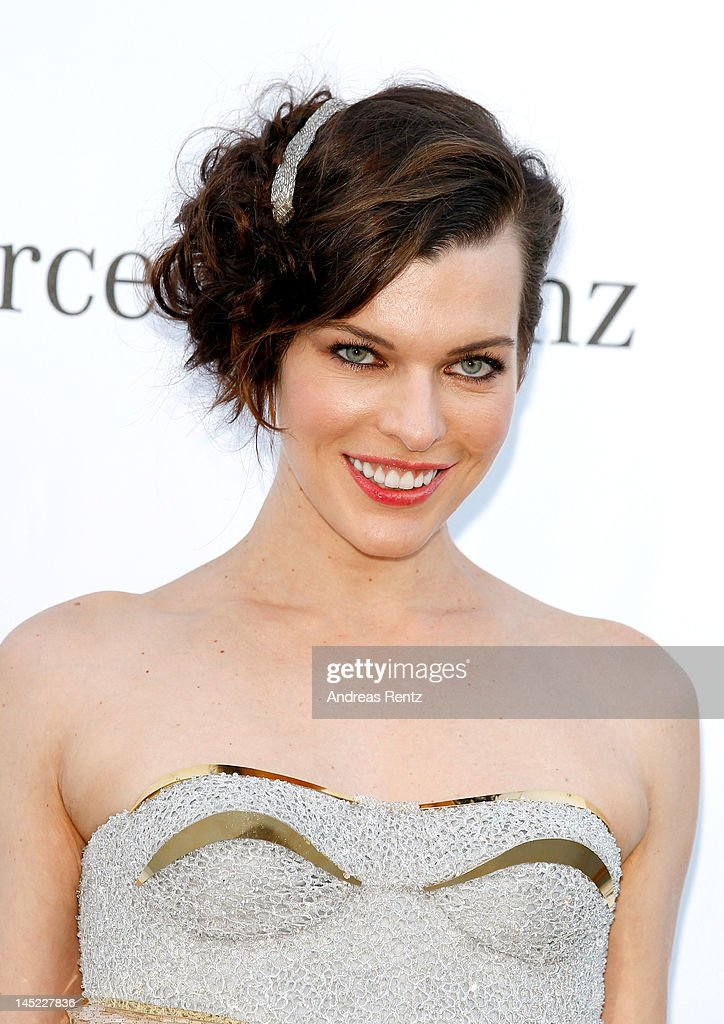 Actress Milla Jovovich arrives at the 2012 amfAR's Cinema Against AIDS during the 65th Annual Cannes Film Festival at Hotel Du Cap on May 24, 2012 in Cap D'Antibes, France.