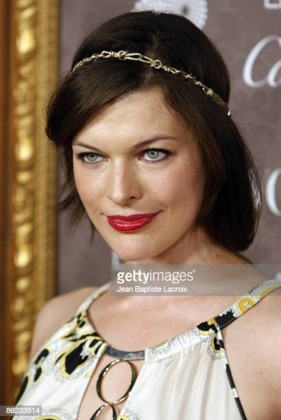 Actress Milla Jovovich arrives at the Art of Elysium 2nd Annual Heaven Gala held at Vibiana on January 10, 2009 in Los Angeles, California.