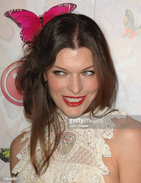 Actress Milla Jovovich arrives at The LG Rumorous Night launch party at the Andaz Hotel on April 28 2009 in West Hollywood California