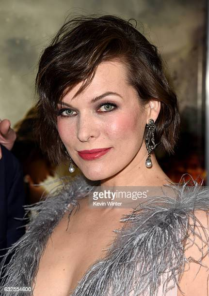 Actress Milla Jovovich arrives at the premiere of Sony Pictures Releasing's Resident Evil The Final Chapter at the Regal LA Live Theatres on January...