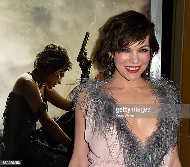 Actress Milla Jovovich arrives at the premiere of Sony Pictures Releasing's 'Resident Evil The Final Chapter' at the Regal LA Live Theatres on...