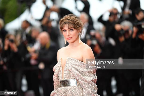 US actress Milla Jovovich arrives for the screening of the film Sibyl at the 72nd edition of the Cannes Film Festival in Cannes southern France on...