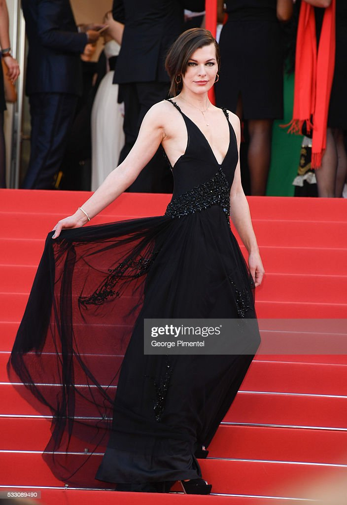 Actress Milla Jovovich attend 'The Last Face' Premiere during the 69th annual Cannes Film Festival at the Palais des Festivals on May 20, 2016 in Cannes, .