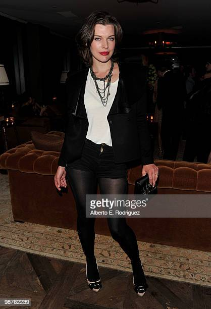 Actress Milla Jovovich attends a cocktail party hosted by Valentino on April 29 2010 in West Hollywood California