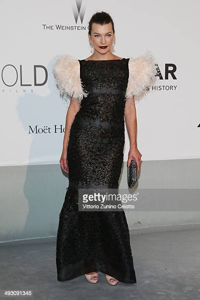 Actress Milla Jovovich attends amfAR's 21st Cinema Against AIDS Gala Presented By WORLDVIEW, BOLD FILMS, And BVLGARI at Hotel du Cap-Eden-Roc on May...