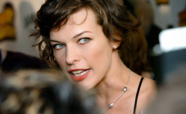 Actress Milla Jovovich attends MTV Russia Movie Awards ceremony in Moscow on April 21, 2006.