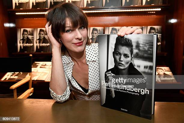 Actress Milla Jovovich attends photographer Peter Lindbergh Book Signing for A Different Vision On Fashion Photography TASCHEN Gallery on September...