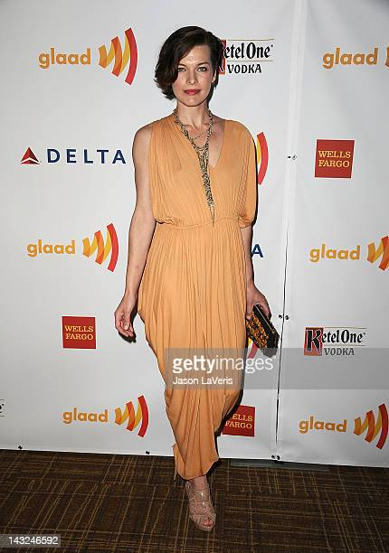 Actress Milla Jovovich attends the 23rd annual GLAAD Media Awards at Westin Bonaventure Hotel on April 21 2012 in Los Angeles California