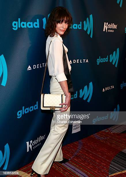 Actress Milla Jovovich attends the 24th annual GLAAD Media awards at The New York Marriott Marquis on March 16 2013 in New York City