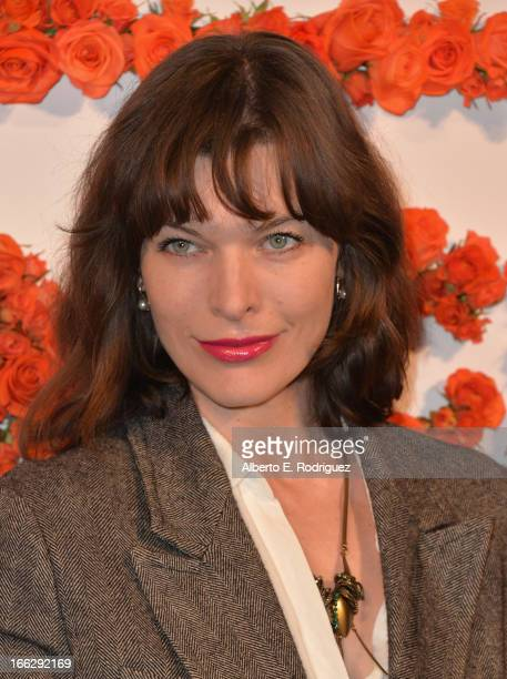 Actress Milla Jovovich attends the 3rd Annual Coach Evening to benefit Children's Defense Fund at Bad Robot on April 10 2013 in Santa Monica...