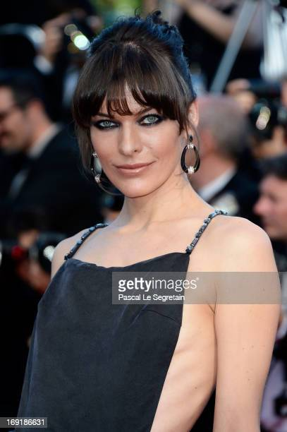 Actress Milla Jovovich attends the 'Cleopatra' premiere during The 66th Annual Cannes Film Festival at The 60th Anniversary Theatre on May 21 2013 in...