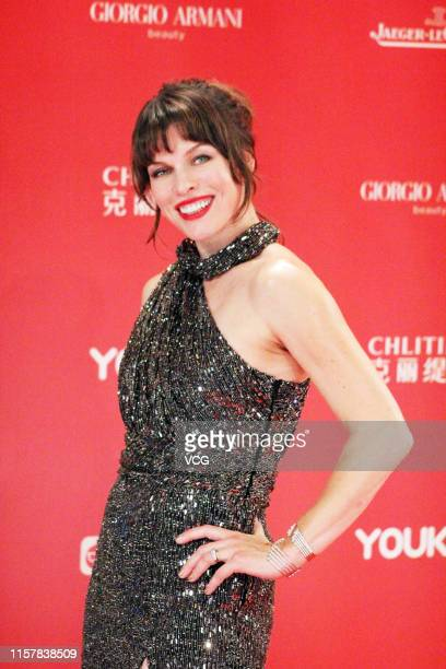 Actress Milla Jovovich attends the Closing and Golden Goblet Awards Ceremony of the 22nd Shanghai International Film Festival at Shanghai Grand...