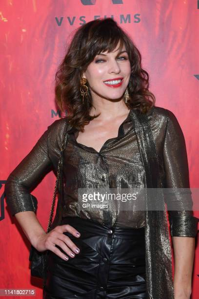 Actress Milla Jovovich attends the Hellboy Canadian Premiere held at Scotiabank Theatre on April 10 2019 in Toronto Canada