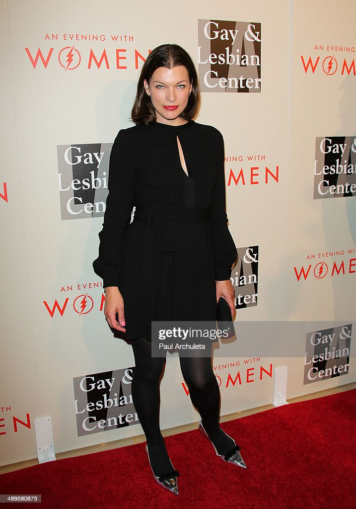 Actress Milla Jovovich attends the L.A. Gay & Lesbian Center's 2014 An Evening With Women at The Beverly Hilton Hotel on May 10, 2014 in Beverly Hills, California.
