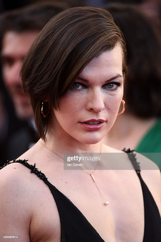 Actress Milla Jovovich attends 'The Last Face' Premiere during the 69th annual Cannes Film Festival at the Palais des Festivals on May 20, 2016 in Cannes, France.