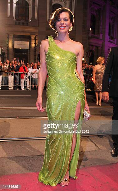 Actress Milla Jovovich attends the Life Ball 2012 AIDS charity fundraiser at City Hall on May 192 012 in Vienna Austria