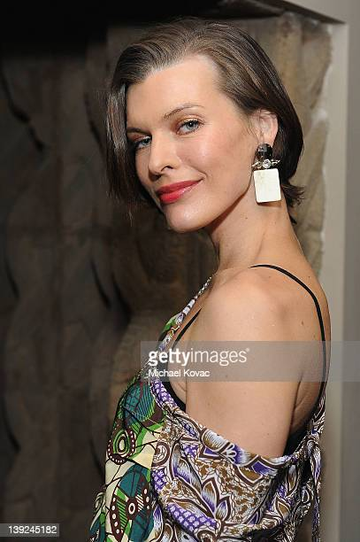 Actress Milla Jovovich attends the Marni at H&M Collection Launch at Lloyd Wright's Sowden House on February 17, 2012 in Los Angeles, California.