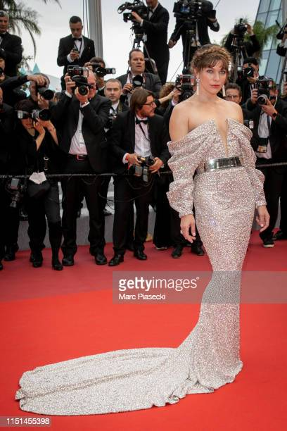 """Actress Milla Jovovich attends the screening of """"Sibyl"""" during the 72nd annual Cannes Film Festival on May 24, 2019 in Cannes, France."""